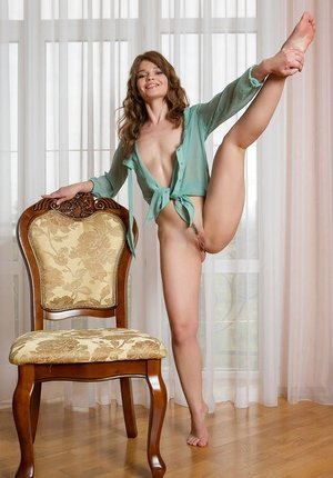 Bare assed Nedda indulges her nude fantasies with naked opens up while alone