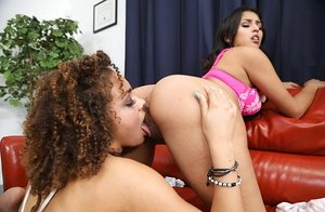 Fantastic lesbian 69 pussy licking action with Sophia Leone & Peyton Banks