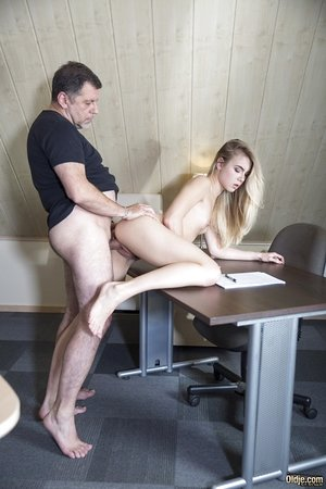 Youthful blonde girl Alecia Fox seduces and fucks her French tutor