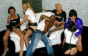 Warm MILFs Cindy Dollar & Eliss Fire are into interracial hardcore groupsex