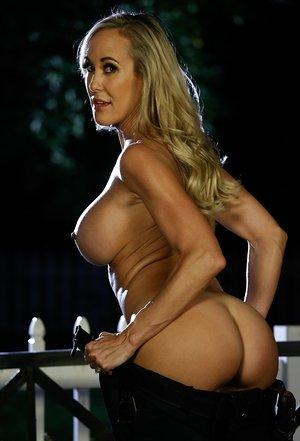 Attractive blonde cop Brandi Love reveals her monster kinks in public