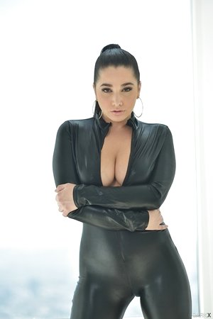 Karlee Grey strips her one - piece costume off and displays her killer body